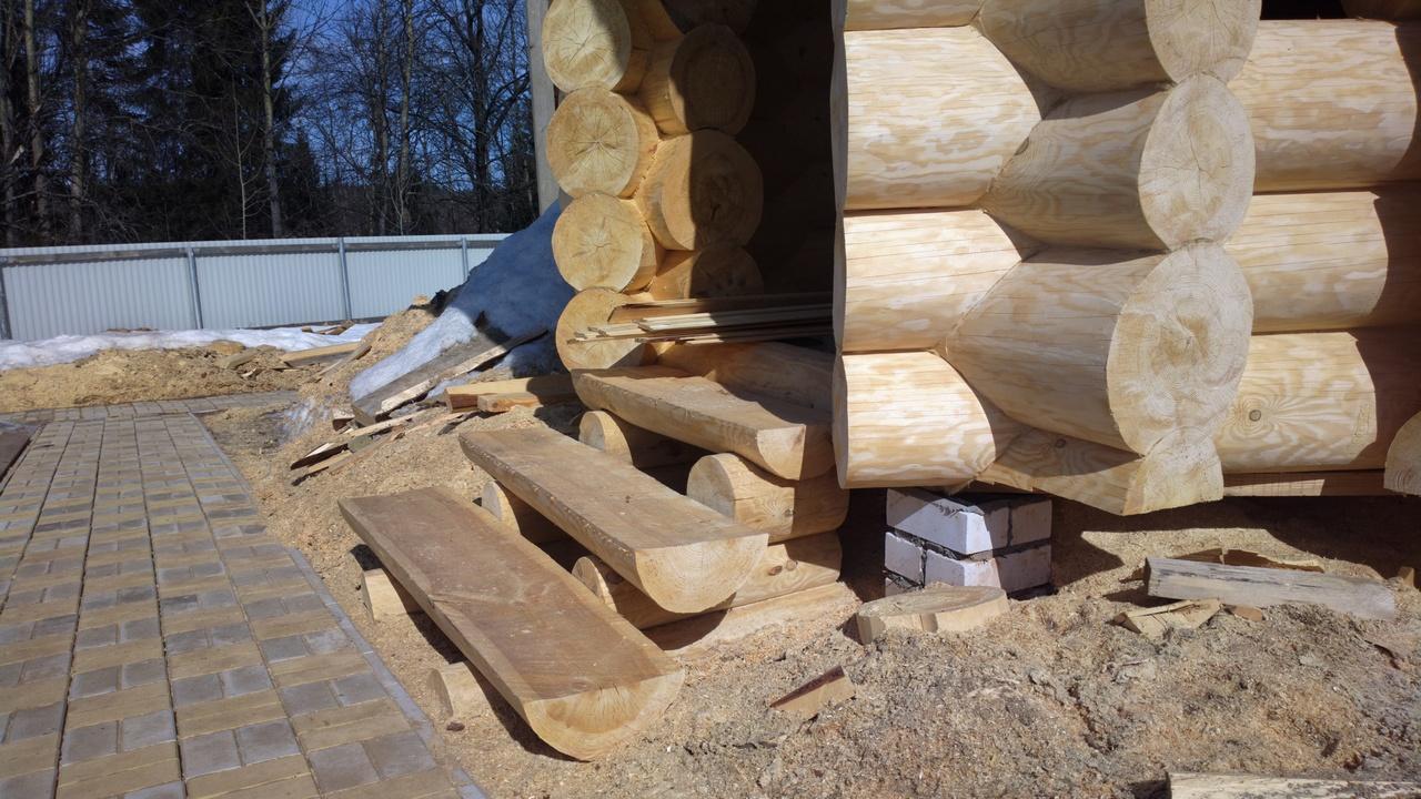 Строительство домов из оцилиндрованного бревна своими руками 72