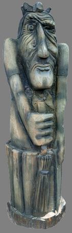 скульптура из дерева Баба-Яга Болотная