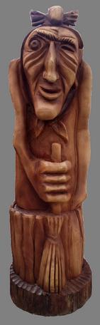 скульптура из дерева Баба-Яга Смола
