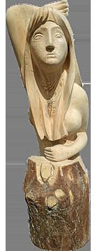 скульптура из дерева Дева