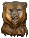 скульптура из дерева Голова Медведя