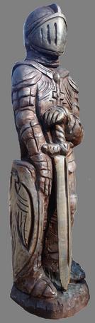 скульптура из дерева Рыцарь