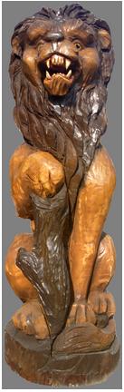 скульптура из дерева Лев