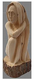 скульптура из дерева Луна