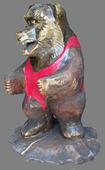 скульптура из дерева Медведь-борец