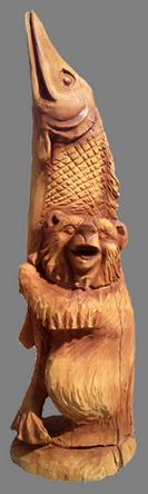 скульптура из дерева Медвежья хватка