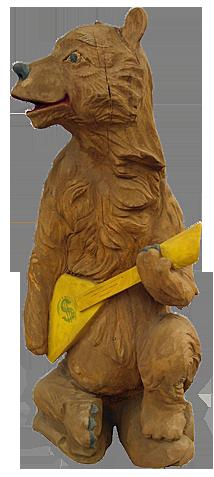 скульптура из дерева Михаил