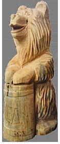 скульптура из дерева Миша