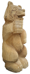 скульптура из дерева Мишка