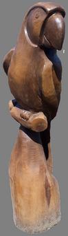 скульптура из дерева Попугай тонированный