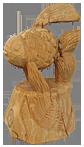 скульптура из дерева Рыбка