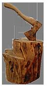 скульптура из дерева Топор