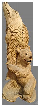 скульптура из дерева Улов