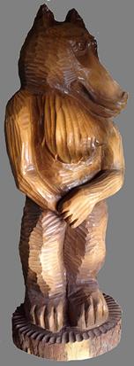 скульптура из дерева Волк