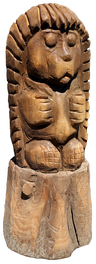 скульптура из дерева Ёжик-трубочист