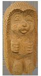 скульптура из дерева Ёжик