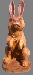скульптура из дерева Заяц