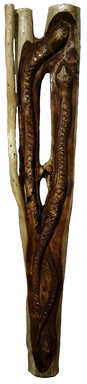 скульптура из дерева Змеи