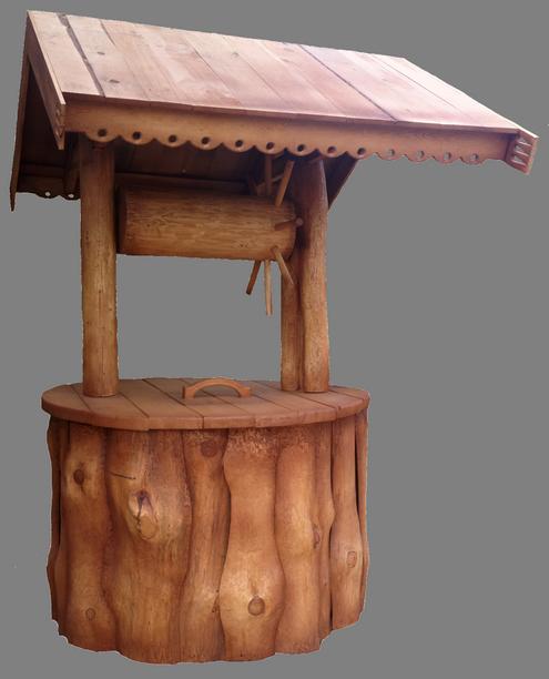 скульптура из дерева Колодец