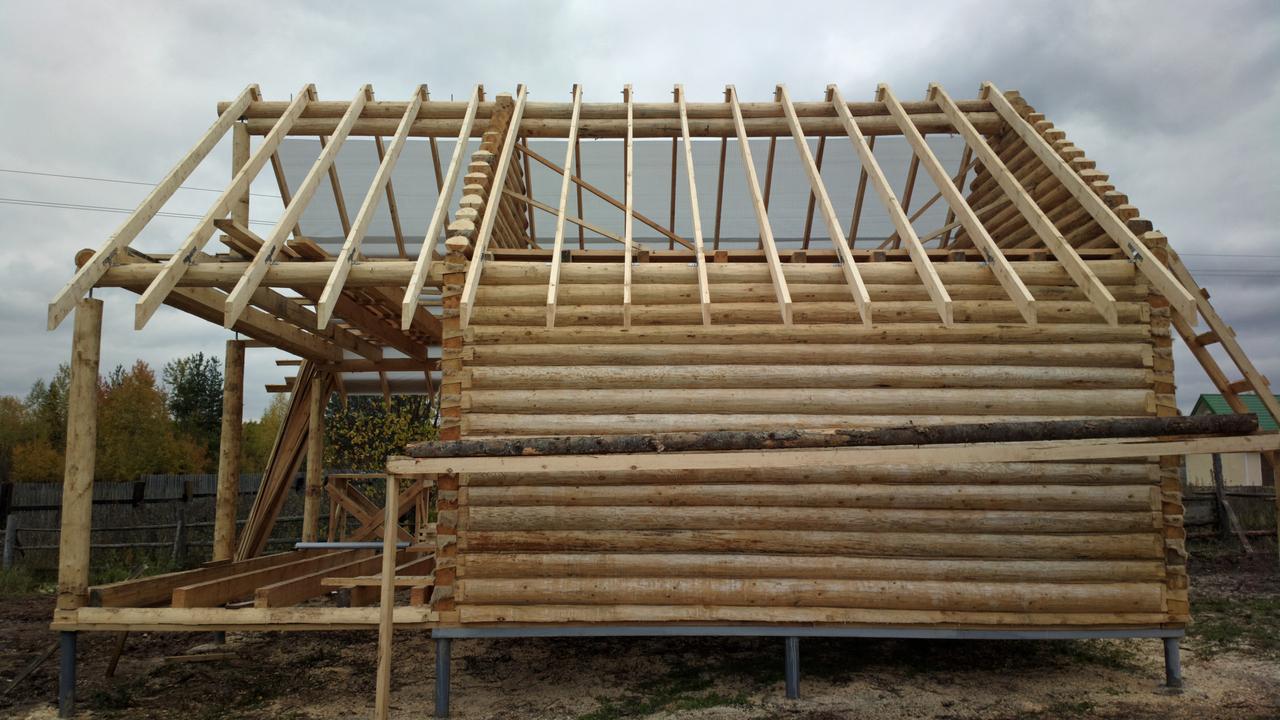 Как построить крышу сруба своими руками 134